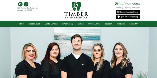 Dental Website Design Sample